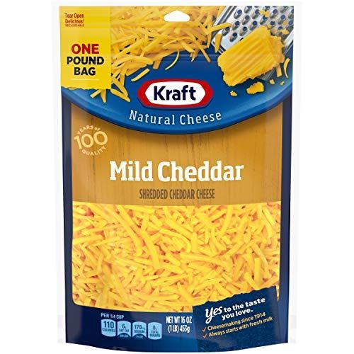 Shredded Mild Cheddar Cheese 226Gr - Kraft